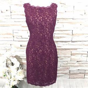 Adrianna Papell Lace Dress Sz 6 (J36)